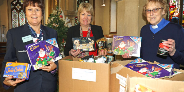 Maxine Vincent (left) And Susanne Curtis (centre) Of Lovewell Blake Hand Over The Donations To Rev Pam Bayliss (002)